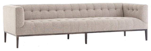 Marlin Modern Wheat Upholstered Tufted Low Back Sofa 96\
