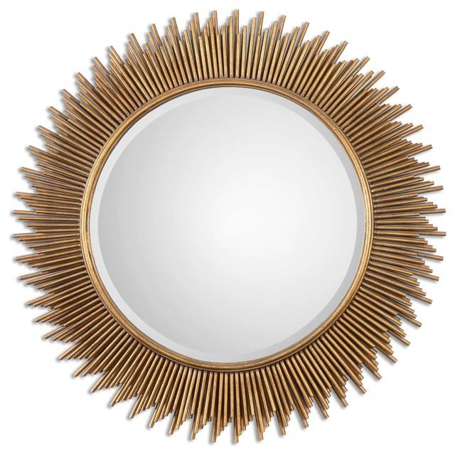 uttermost marlo round gold mirror - Uttermost Mirrors