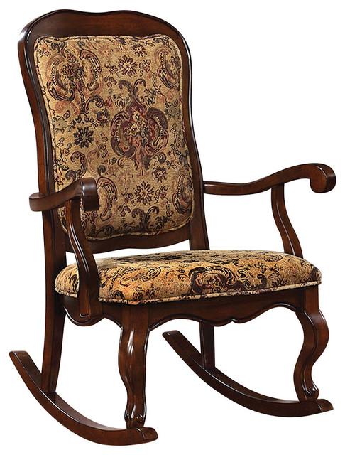 Sharan Rocking Chair, Cherry Traditional Rocking Chairs