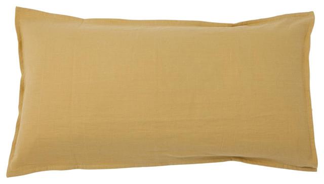 Rectangular Pure Cushion Cover, Mustard
