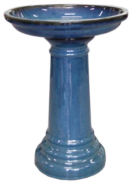 Aviatra 24 Quot Ceramic Birdbath Blue Transitions
