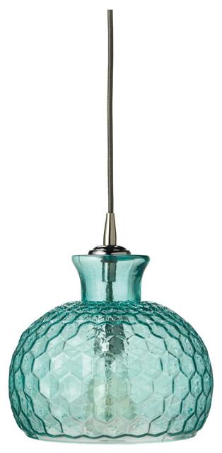 Clark Pendant, Aqua Glass.