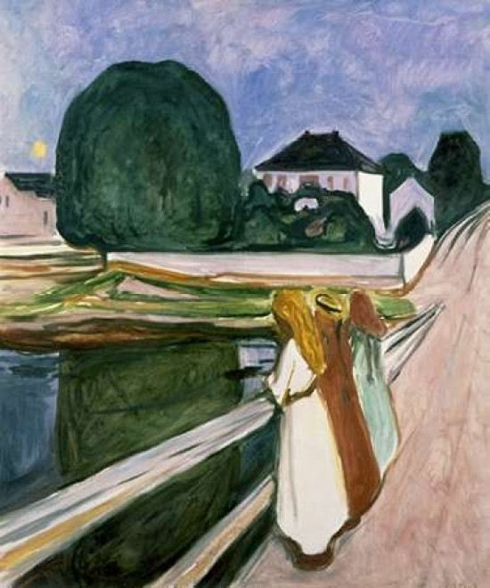 Edvard Munch The Seine at Saint Cloud Giclee Canvas Print Paintings Poster Repro