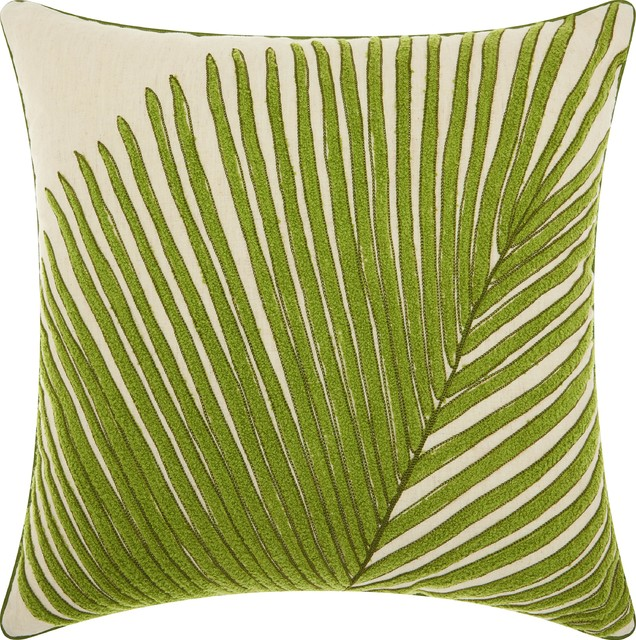 Peachy Royal Palm Palm Frond Throw Pillow Green Ocoug Best Dining Table And Chair Ideas Images Ocougorg