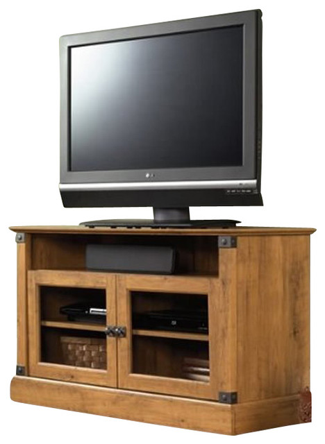 wall cabinets for kitchen sauder registry row panel tv stand in pine rustic 28041