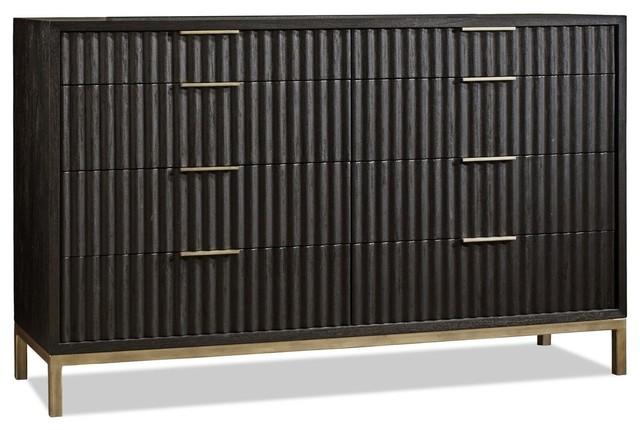 Westmont Dresser, Black / Brushed Steel
