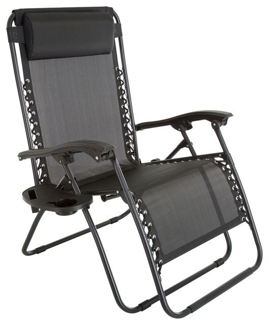 Pure Garden Oversized Zero Gravity Chair With Pillow and