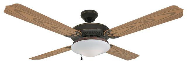 Oil Rubbed Bronze 52 Outdoor Ceiling Fan.
