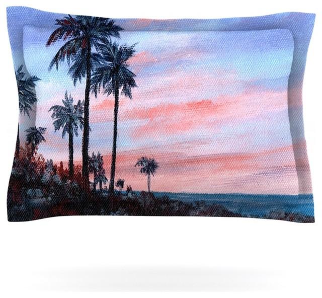 Rosie Brown Florida Sunset Palm Tree Pillow Sham Cotton