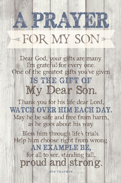 Prayer For My Son Plaque.