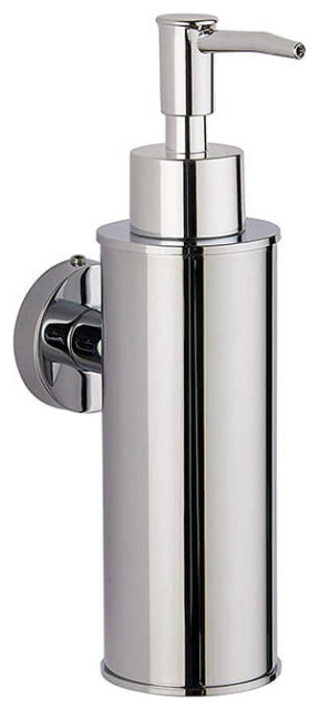 Wall Mounted Round Soap Dispenser Contemporary Soap Lotion Dispensers By Thebathoutlet