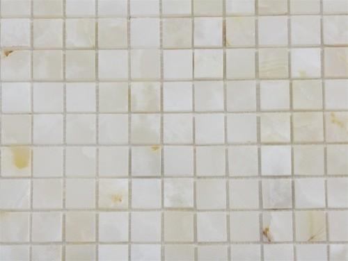 Pearl White Onyx Polished Mosaic Tiles - Modern - Mosaic Tile - by ...