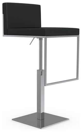 Even Plus Swiveling with Gas Lift Bar Stool Chrome Frame Black bar-stools  sc 1 st  Houzz & Even Plus Swiveling with Gas Lift Bar Stool - Bar Stools And ... islam-shia.org