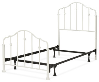 Lorna Complete Kids Bed With Metal Duo Panels, Warm White, Twin
