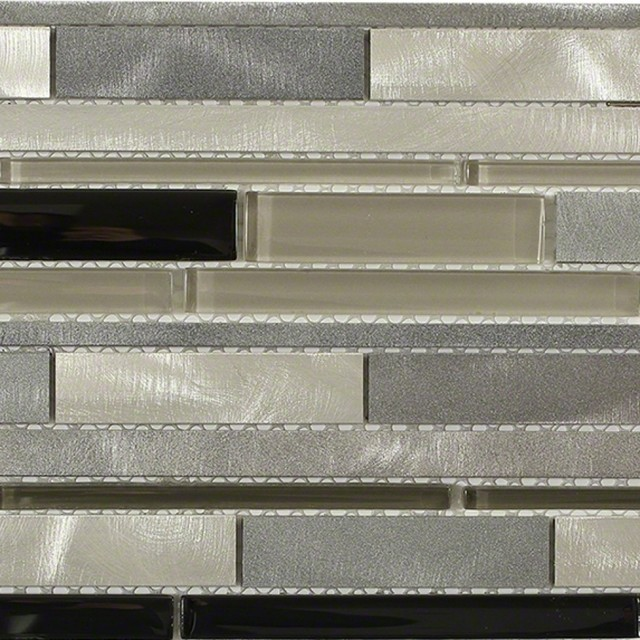 Industrial Wetlands Aluminum Mosaic Tile Sample