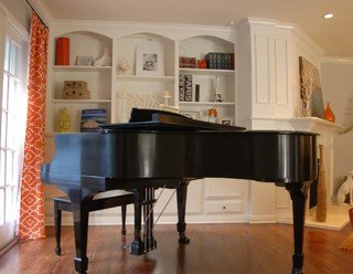 Piano placement in living room for Smallest piano size