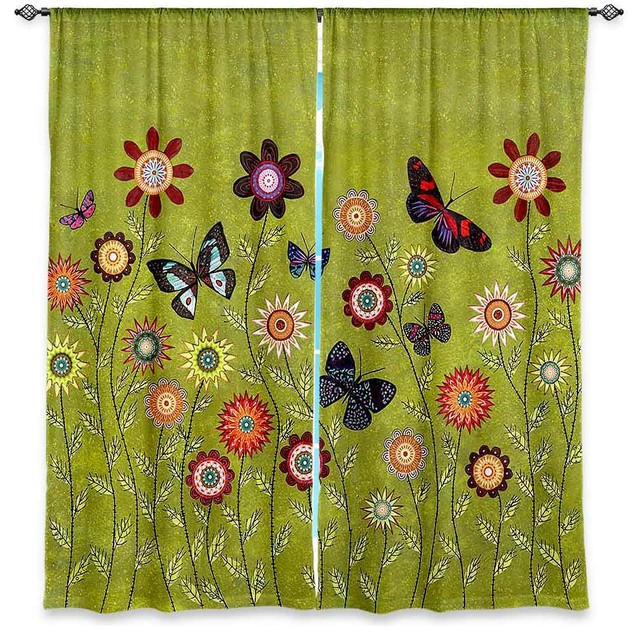 DiaNoche Lined Window Curtains By Sascalia Bohemian Butterflies