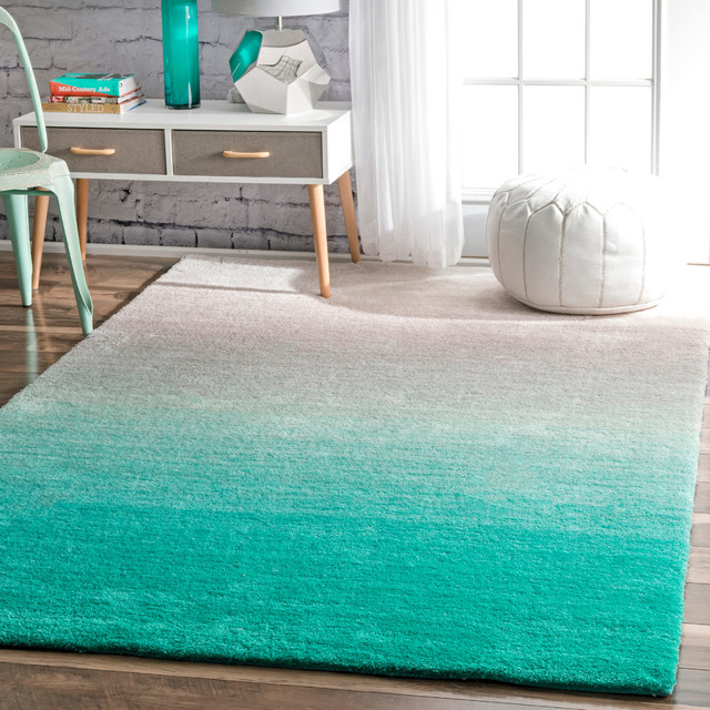 Hand Tufted Ombre Shag Os02 Rug Contemporary Area Rugs By Nuloom