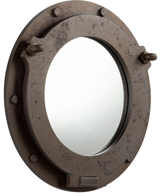 Industrial Ore Wall Mirrors, Brown.