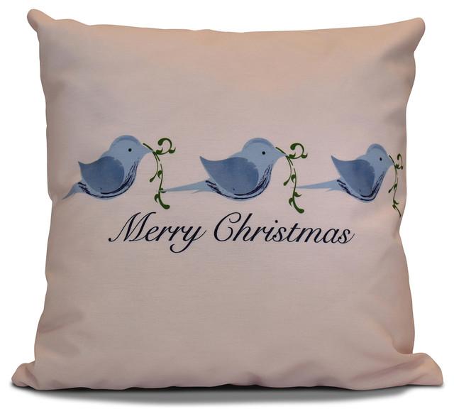 E by Design - Decorative Holiday Pillow, Word Print & Reviews Houzz