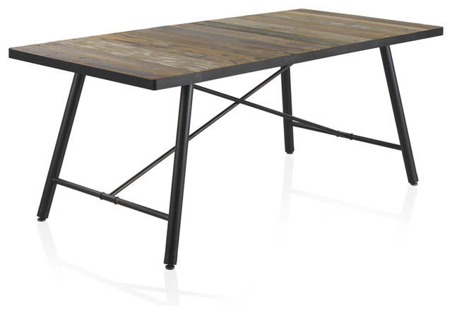 Badajoz Wooden And Iron Dining Table Tables By Geese