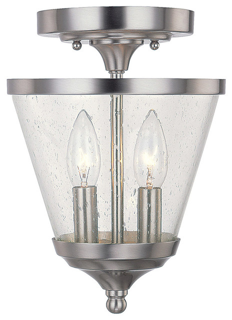 Capital Lighting Stanton Brushed Nickel Classic Foyer W/ 2 Light 60w.