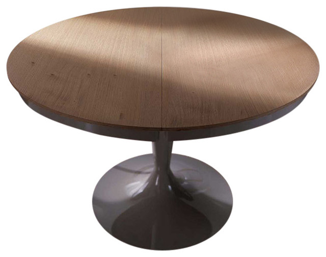 Elise Round Dining Table Extendable, Round Dining Table With Extension Leaf