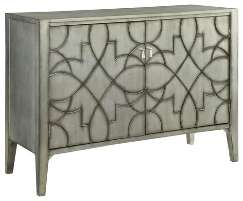 48 in. Accent Cabinet in Silver