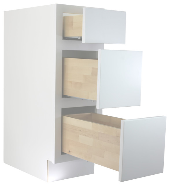 """Cabinet Mania White Shaker 18"""" Bathroom Vanity Drawer Base RTA Cabinet - Contemporary - Bathroom Vanities And Sink Consoles - by Cabinet Mania"""