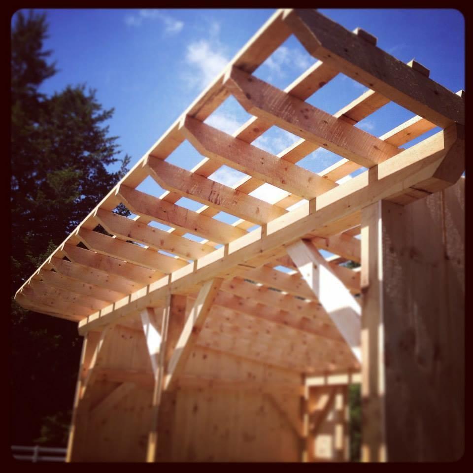 Timber Frame Horse Cover Barn