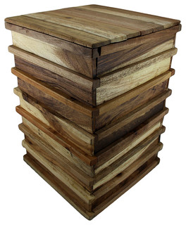 Recycled Acacia Briked Bried Stool