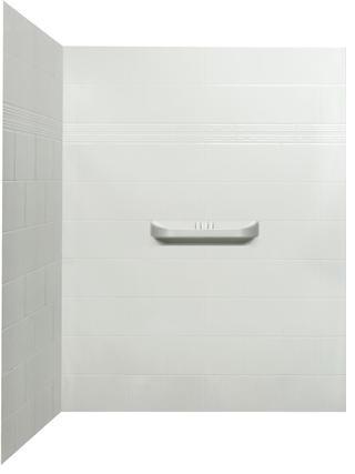 Laila Acrylic Corner Shower Wall