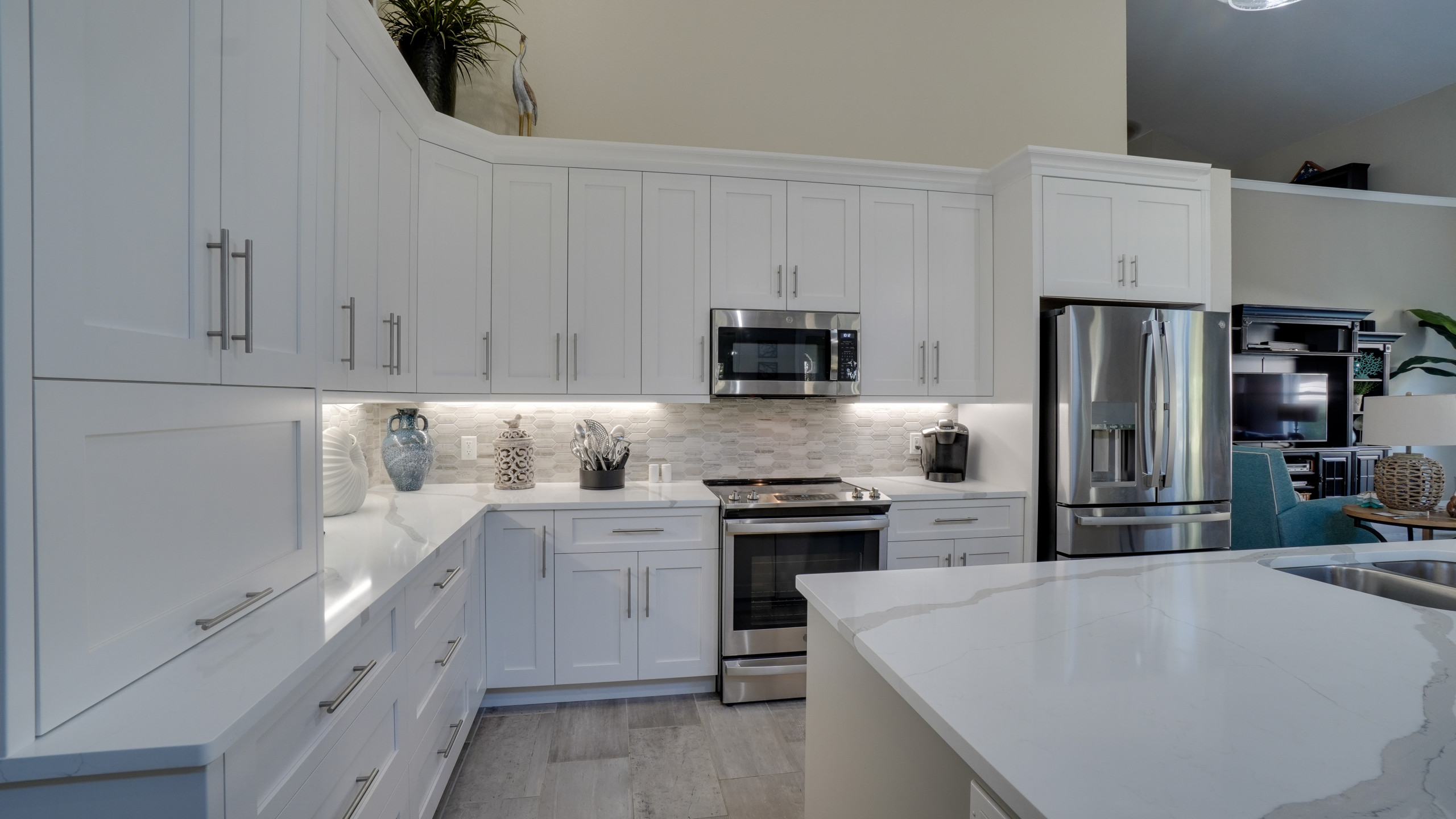 Transitional Shaker Kitchen and Bath