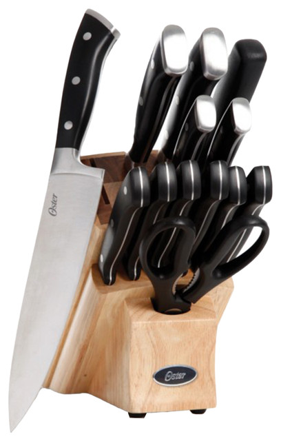 Oster Cuisine Regensburg 13 Piece Cutlery Set With Rubberwood Acacia