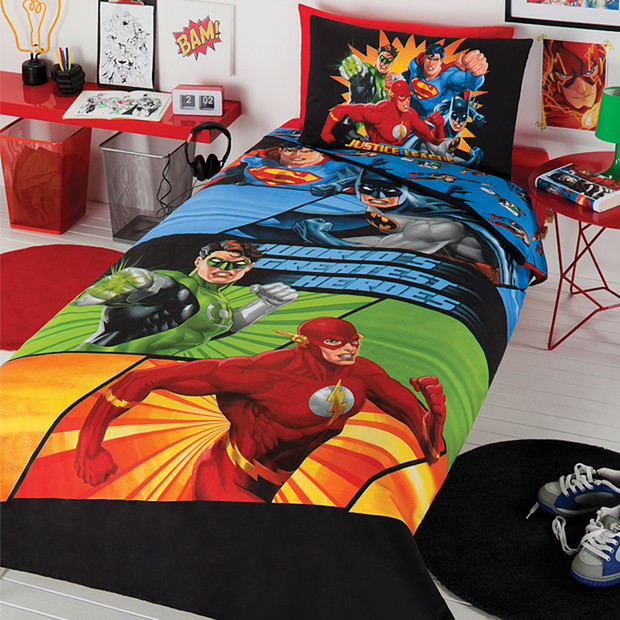 Justice League Awesome Four Quilt Cover Set Contemporary