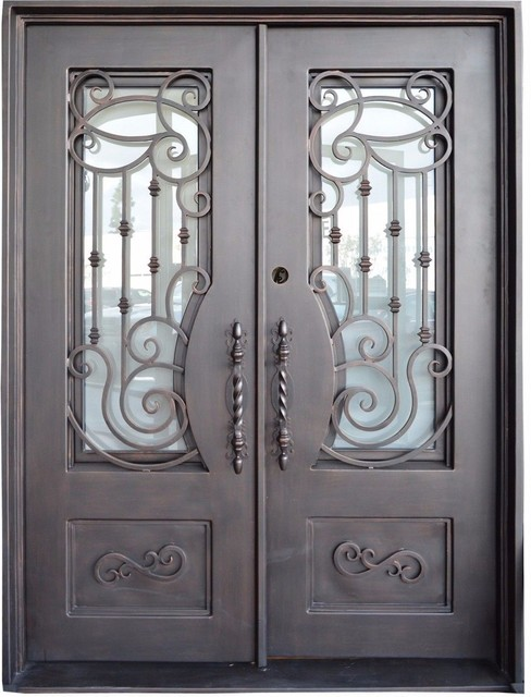 Sonoush Collection Newport Wrought Iron Double Entry Door