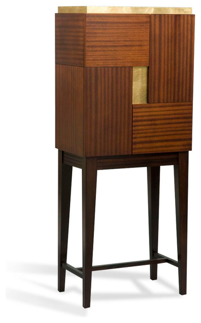 Beau Pandora Bar Cabinet   Transitional   Wine And Bar Cabinets   By Lee  Weitzman Furniture Inc.