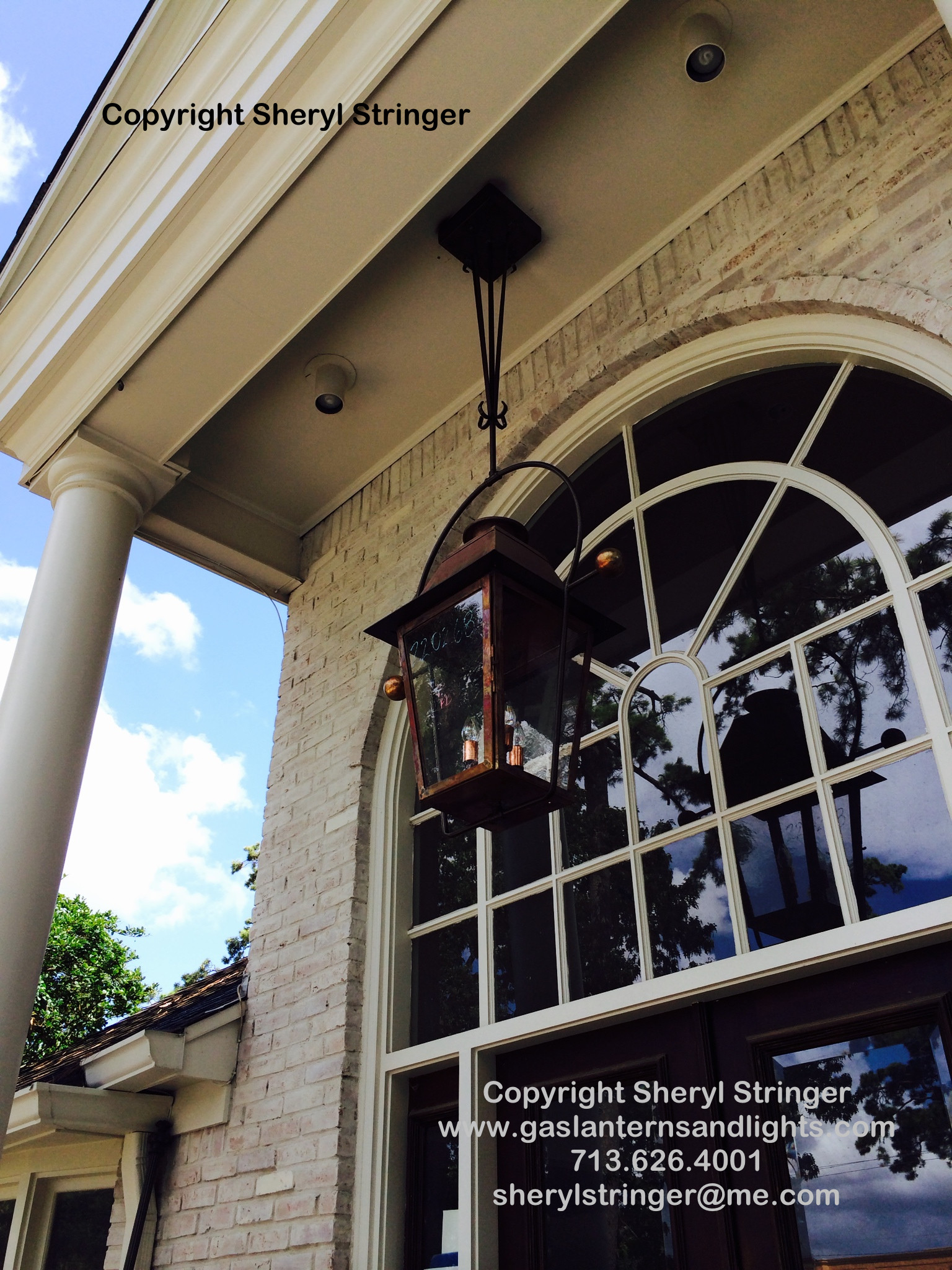 Sheryl's Extra Large Plantation Lantern Hanging by Steel Yoke