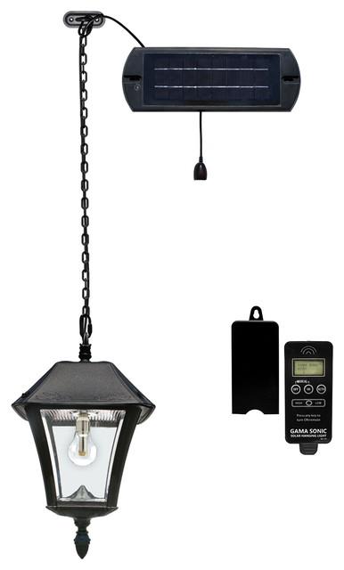 Baytown Ii Solar Hanging Light, Black.