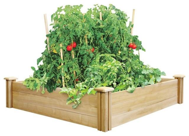 "Greenes Original Cedar Raised Garden Bed, 4'x4'x10.5"""