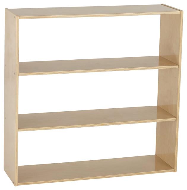 Birch Streamline 3 Shelf Storage Cabinet Without Back 36 H Transitional Cabinets By Virventures