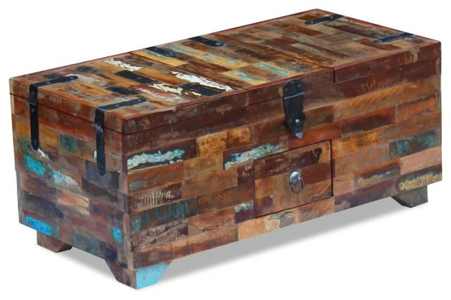 Fantastic Vidaxl Coffee Table Box Chest Solid Reclaimed Wood 31 5 Stand Couch Table Machost Co Dining Chair Design Ideas Machostcouk
