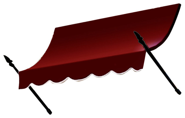 "6&x27; New Orleans Awning, 56"" Hx32"" D, Burgundy."