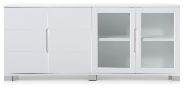 Modern Cabinet White With Gl Doors