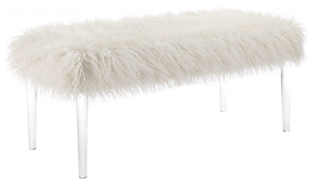 Furry Acrylic Leg Bench.