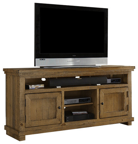 """64"""" Entertainment Console - Farmhouse - Entertainment Centers And Tv Stands - by HedgeApple"""