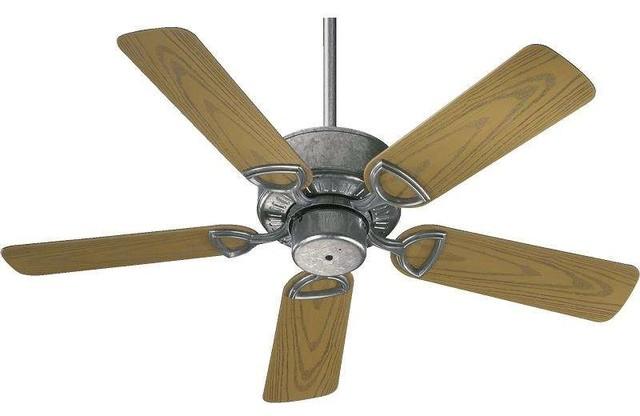 """Quorum 143425-9 Estate Patio 42"""" Indoor / Outdoor Ceiling Fan, Galvanized."""
