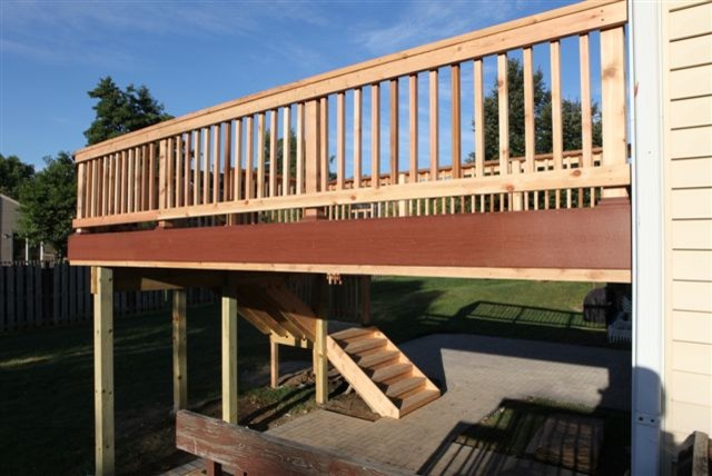 streamwood second story deck brick patio chicago by ays