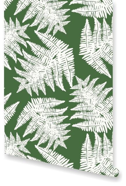 Fern Artichoke Wallpaper By Clairebella, Sample.