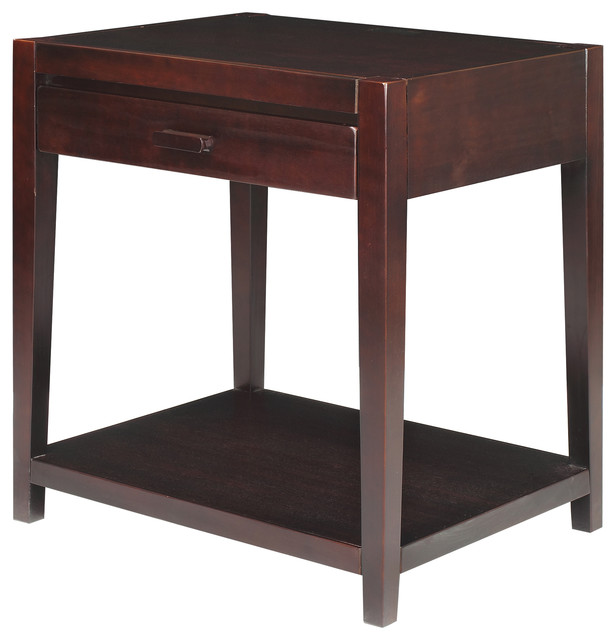 Notre Dame Night Stand With Usb Port, Espresso.